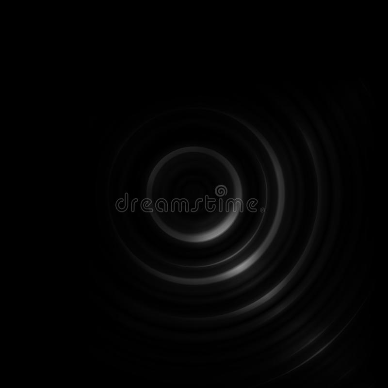 Abstract black shutter aperture with lens effect background.  vector illustration