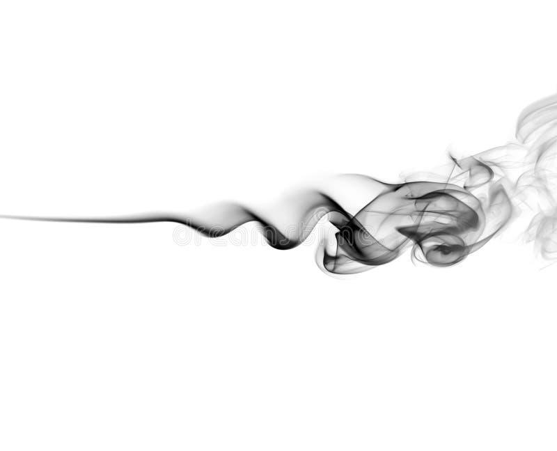 Abstract black smoke. Swirls on white background. Photo stock images
