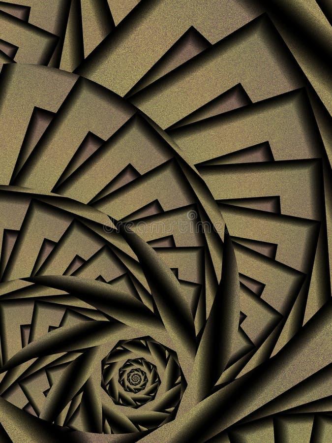 Abstract Black Spiral Design stock photos