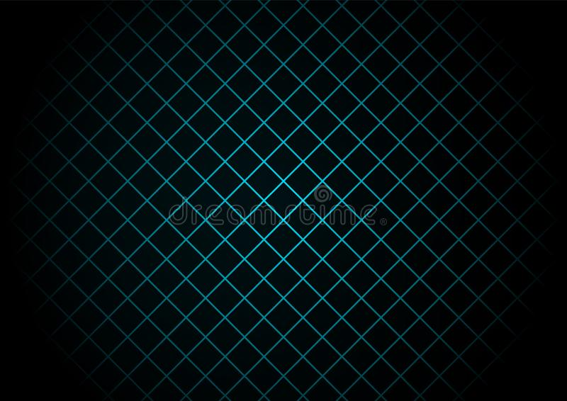 Abstract black square pattern on light blue background and texture technology style royalty free illustration