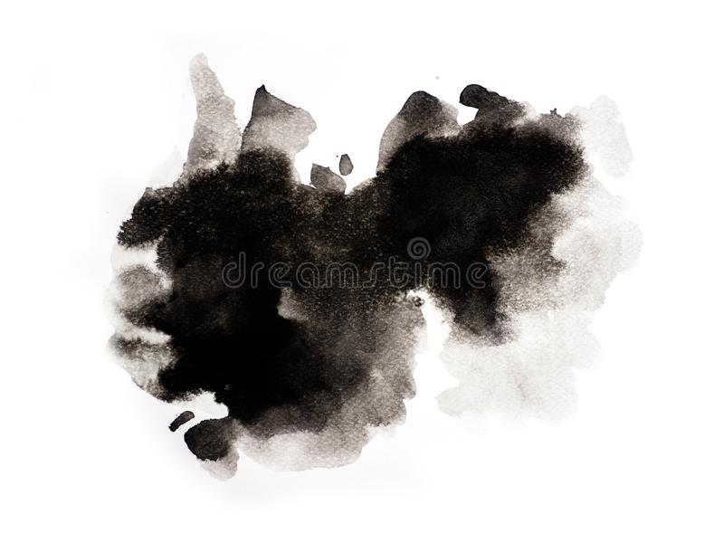 Abstract black watercolor on white background, abstract watercolor background, illustration vector illustration
