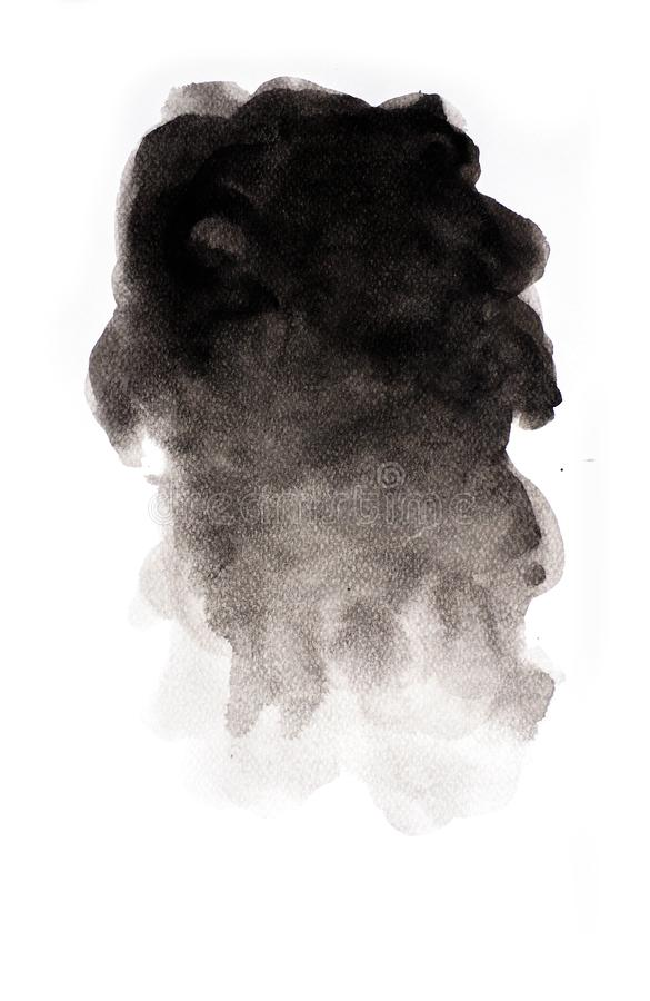 Abstract black watercolor on white background, abstract watercolor background. Abstract black watercolor on white background abstract watercolor background vector illustration