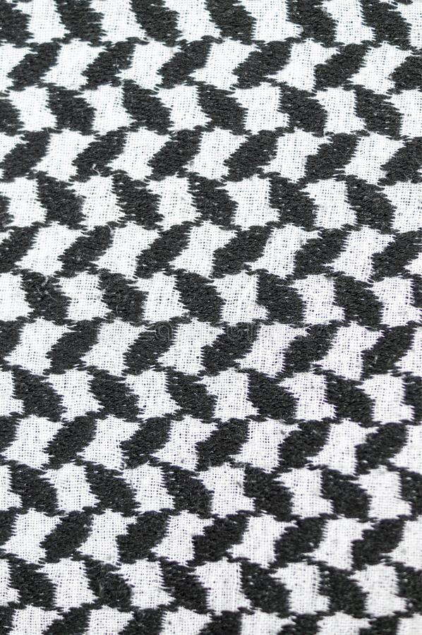 Black and white arabic style fabric textile. background, texture. Abstract black and white arabic style fabric textile. background, texture royalty free stock images
