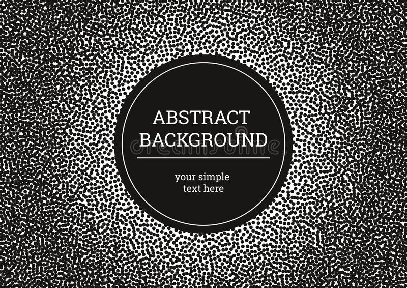 Abstract black and white background of dots. Contrast modern background, minimalistic grunge style. Vector texture, dots halftone stock illustration