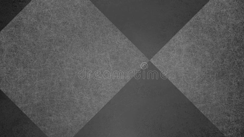 Abstract black and white background with geometric diamond checked pattern. Elegant dark gray color with textured light shapes. And angles in modern stock image