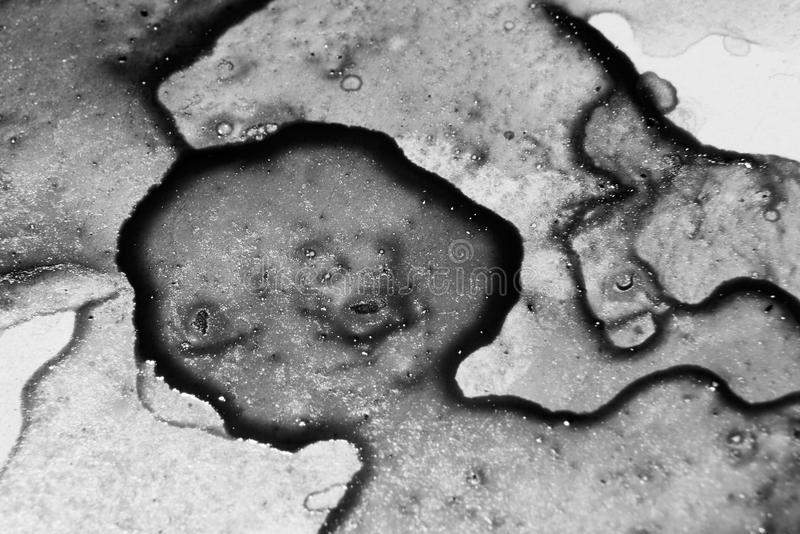 Abstract black and white background of mud stains, photo royalty free stock image