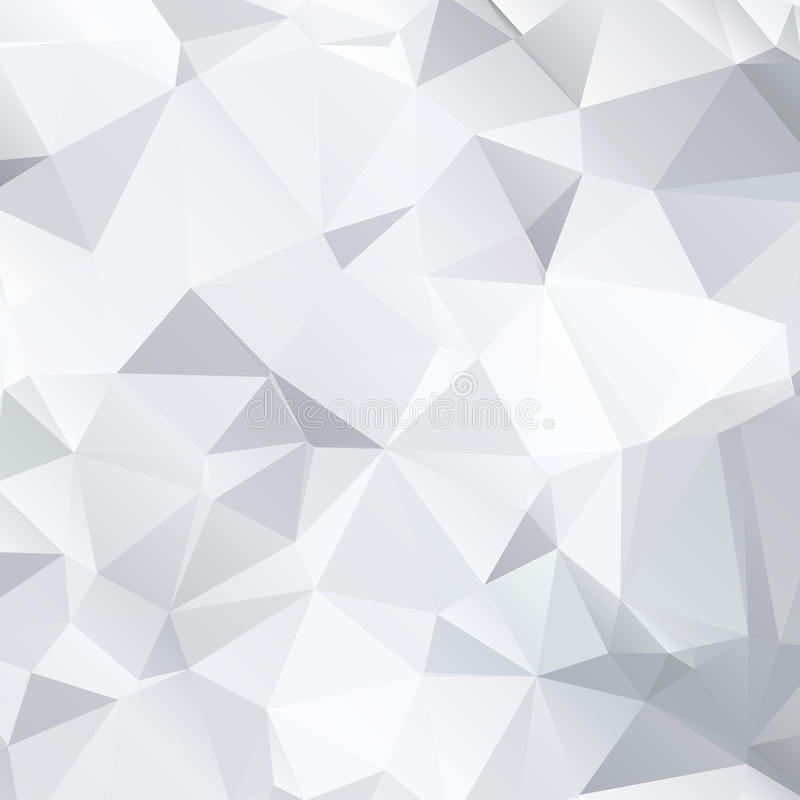 Abstract black and white background of polygonal vector illustration