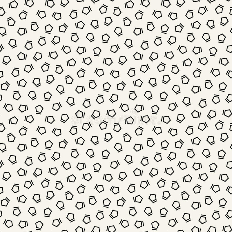 Abstract black and white deco art memphis fashion pentagon pattern. Background vector illustration