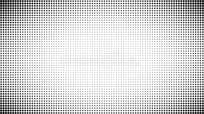 Download Abstract Black And White Dots Background Comic Pop Art Style Light Effect