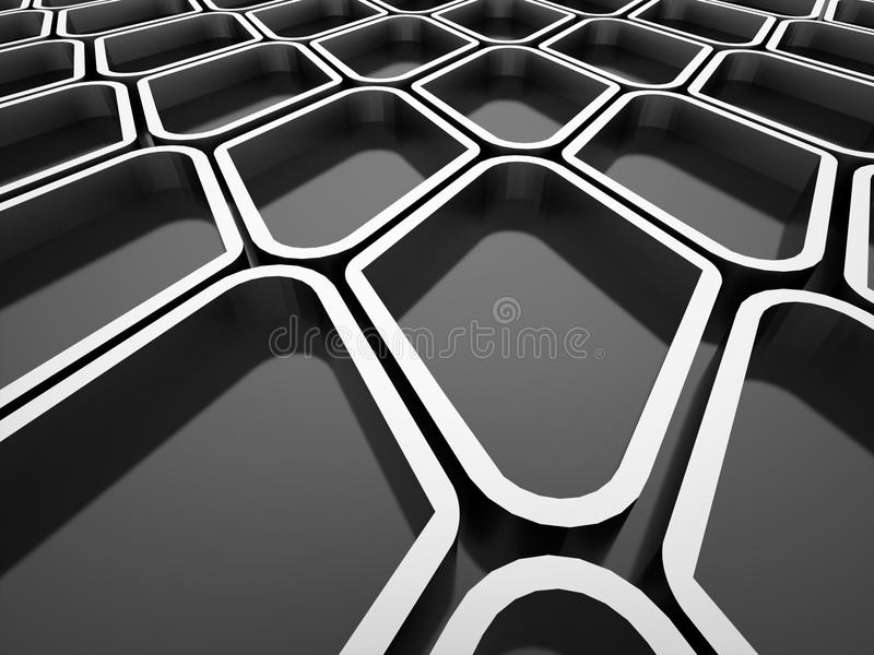 Download Abstract black and white stock illustration. Illustration of grid - 31666493