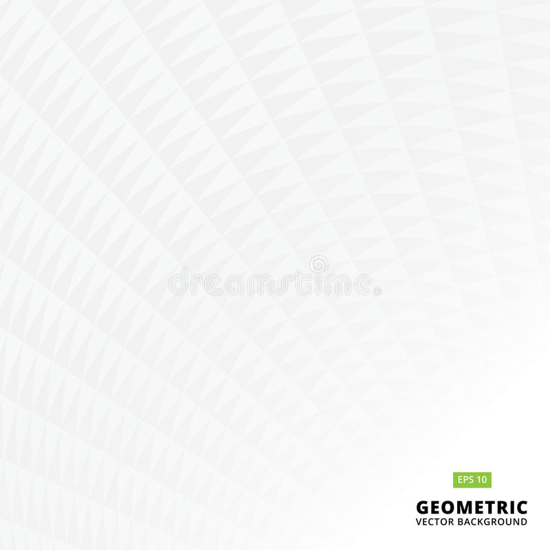Abstract black and white geometric triangle pattern texture perspective, Vector background. Copy space stock illustration