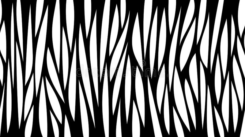 Abstract black and white horizontal seamless background with lines and holes. Laser cut vector template. vector illustration