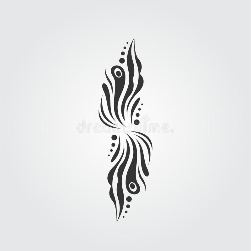 Abstract Black and white motif vector design illustration stock image