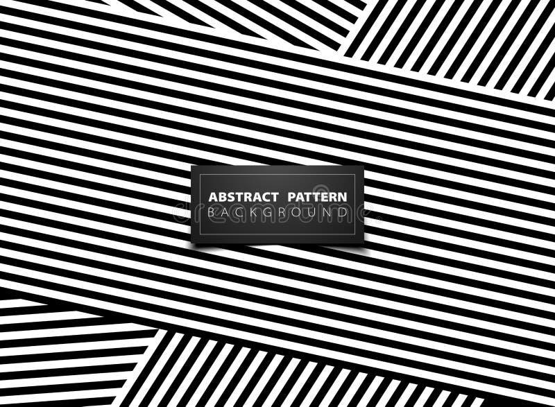 Abstract black and white op art stripe line pattern design. illustration vector eps10 stock illustration