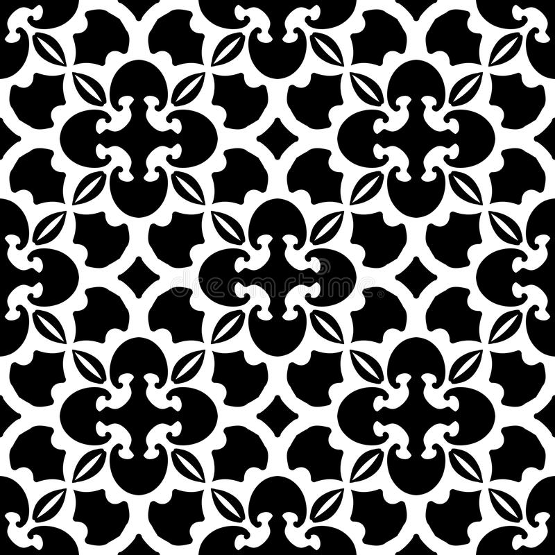 Abstract black and white pattern. Vector vector illustration