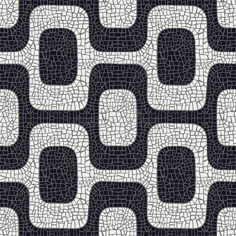 Download Abstract Black And White Pavement Pattern Stock Vector - Illustration: 25246593