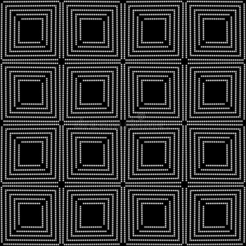 Abstract black and white repeated design pattern vector illustrations stock illustration