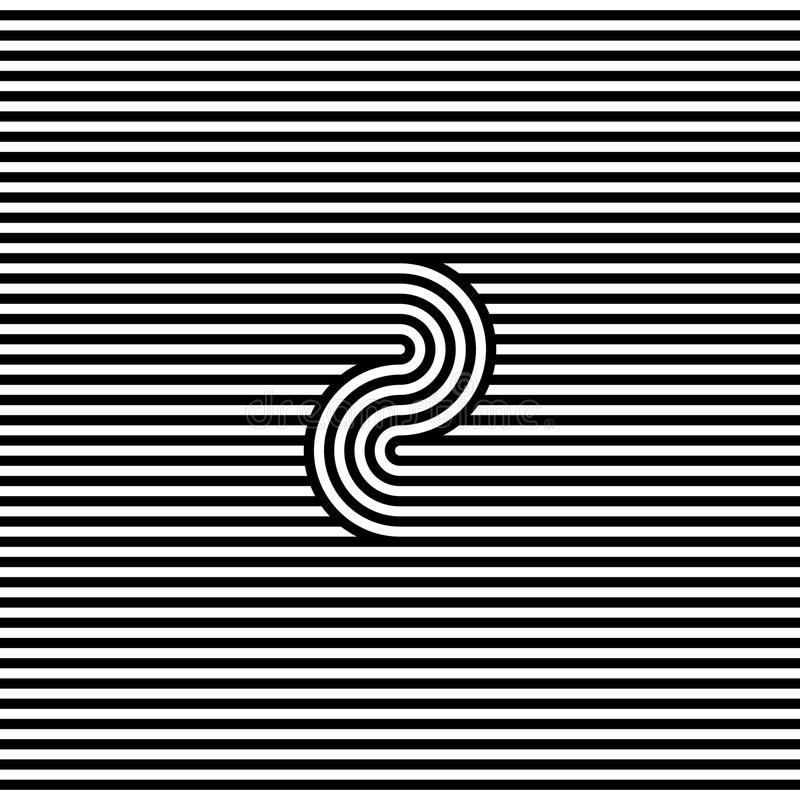 Abstract black and white stripe line background stock illustration