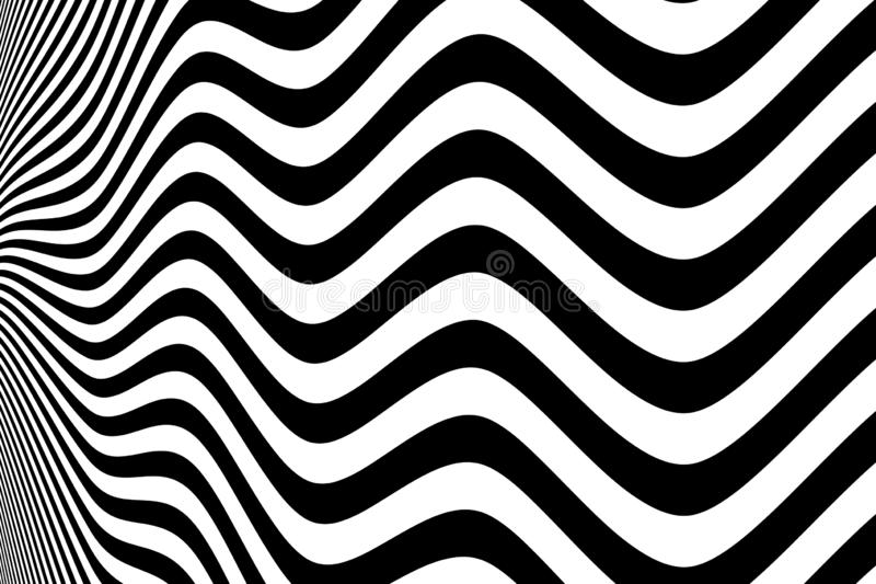 Abstract black and white wavy pattern design background. illustration vector eps10 vector illustration