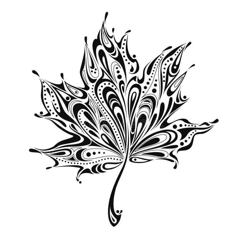 Abstract blad vector illustratie