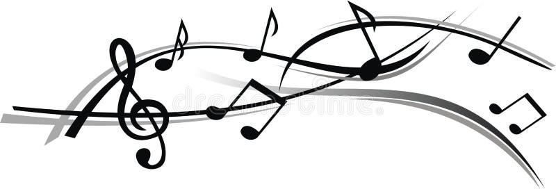 Abstract blad van muziek met witte achtergrond stock foto