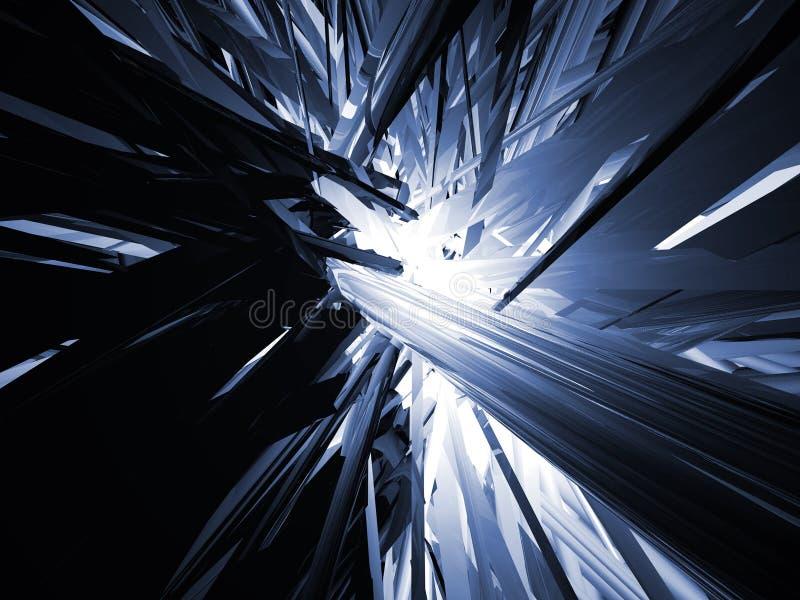 Abstract blauw royalty-vrije illustratie