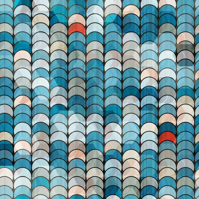 Abstract blauw cirkelpatroon royalty-vrije illustratie