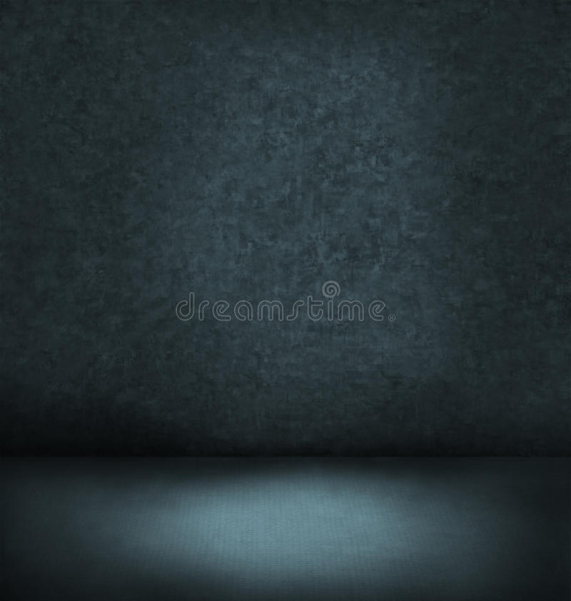 Abstract blauw donker binnenland royalty-vrije stock afbeelding