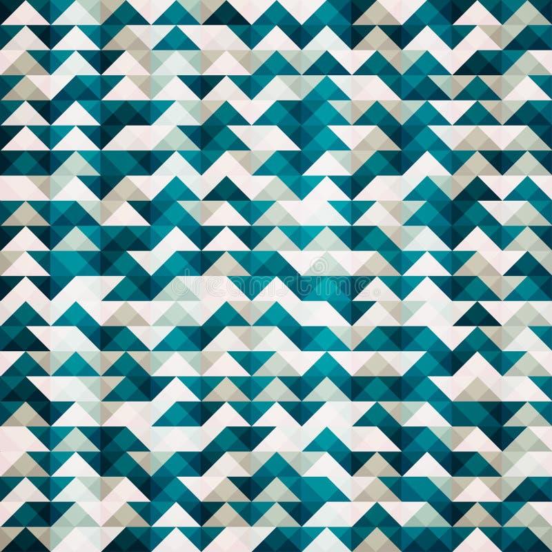 Abstract blauw driehoeks naadloos patroon vector illustratie