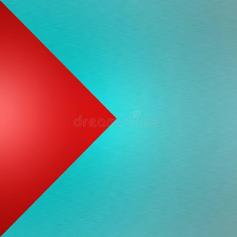 Abstract Blauw Geborsteld Metaal op Rode Achtergrond stock afbeeldingen