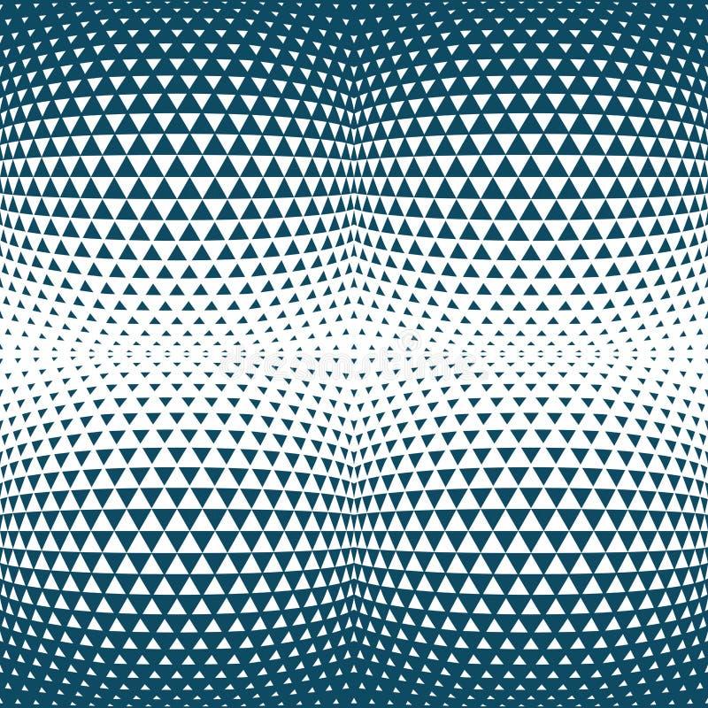 Abstract blauw geometrisch van de het ontwerpdruk van de hipstermanier halftone de driehoekspatroon stock illustratie