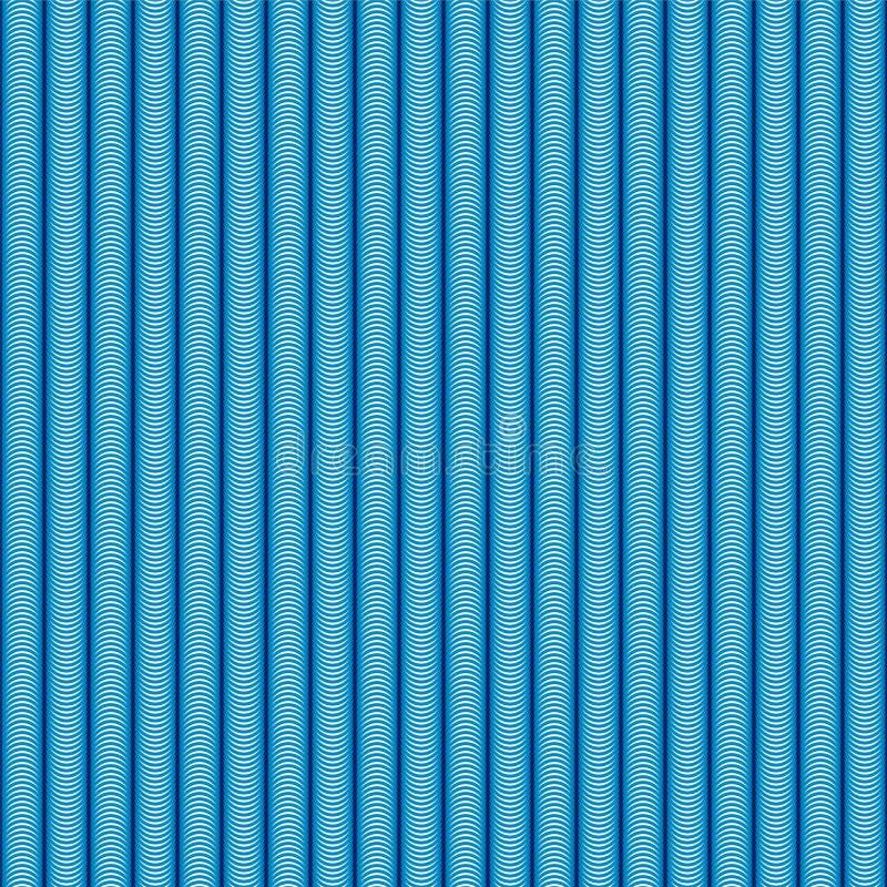 Abstract blauw golf naadloos patroon vector illustratie