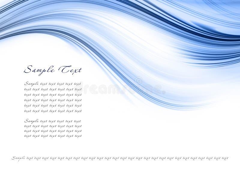 Abstract blauw malplaatje stock illustratie