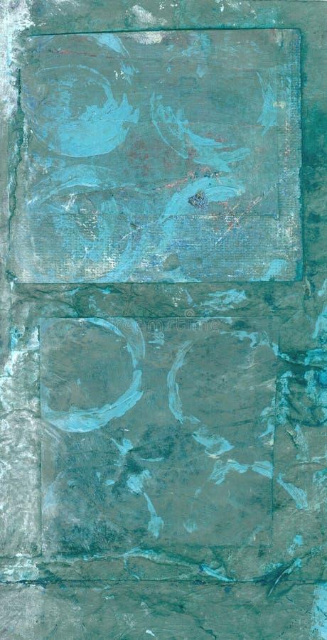Abstract Blauw met Cirkels royalty-vrije illustratie