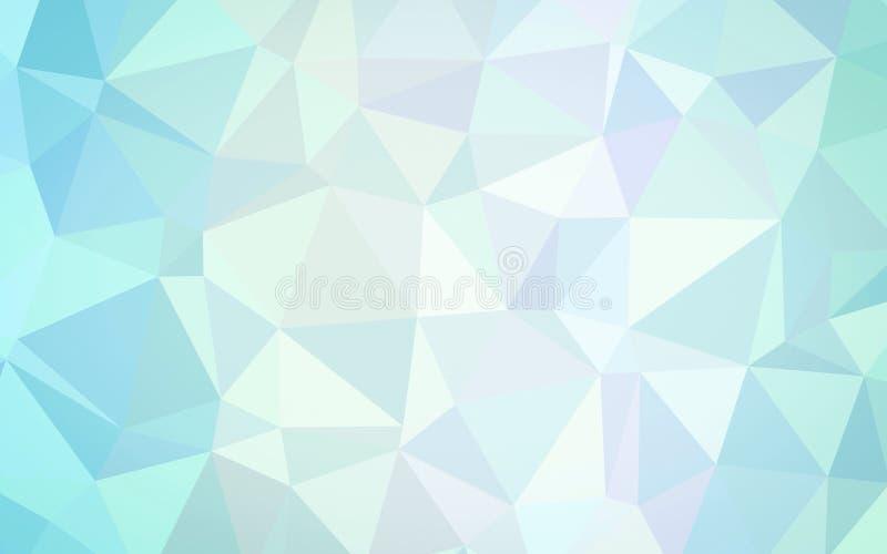 Abstract blauw veelhoekbehang stock illustratie