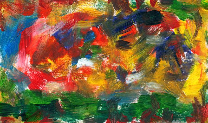 Abstract blend of strokes with a brush. Abstract blend and tangle of strokes with a brush royalty free illustration