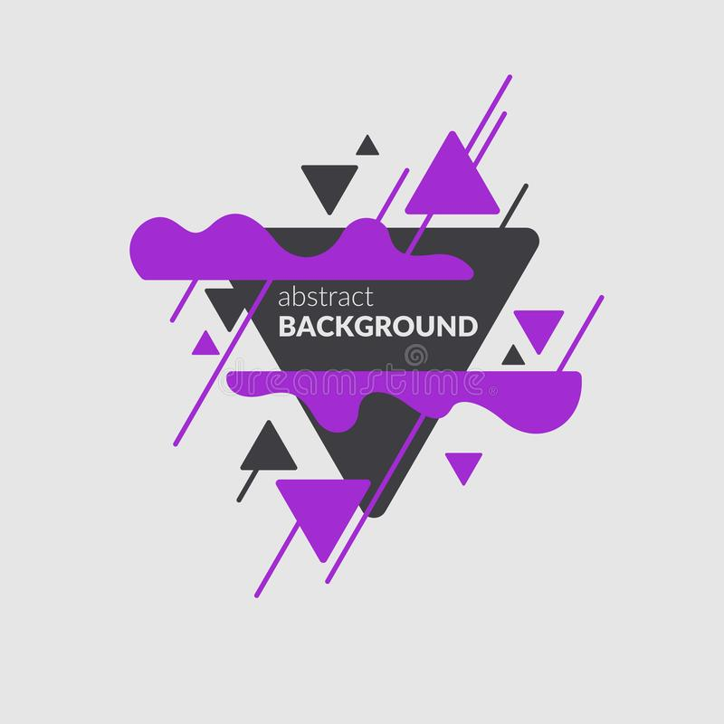 Abstract blobs and geometric shapes on a background. Vector illustration stock illustration