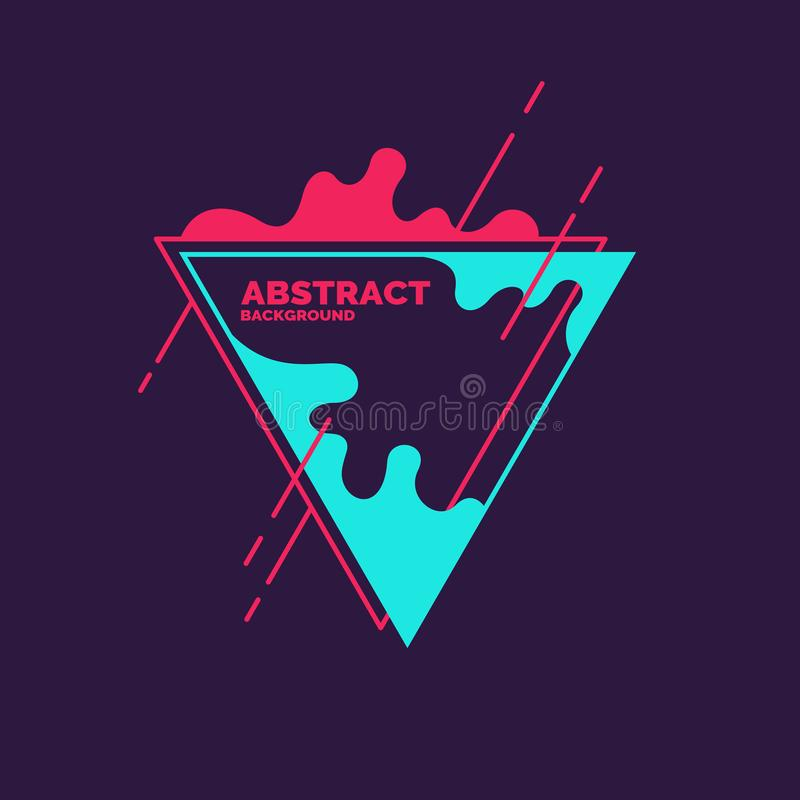 Abstract blobs and geometric shapes on a background. Vector illustration vector illustration