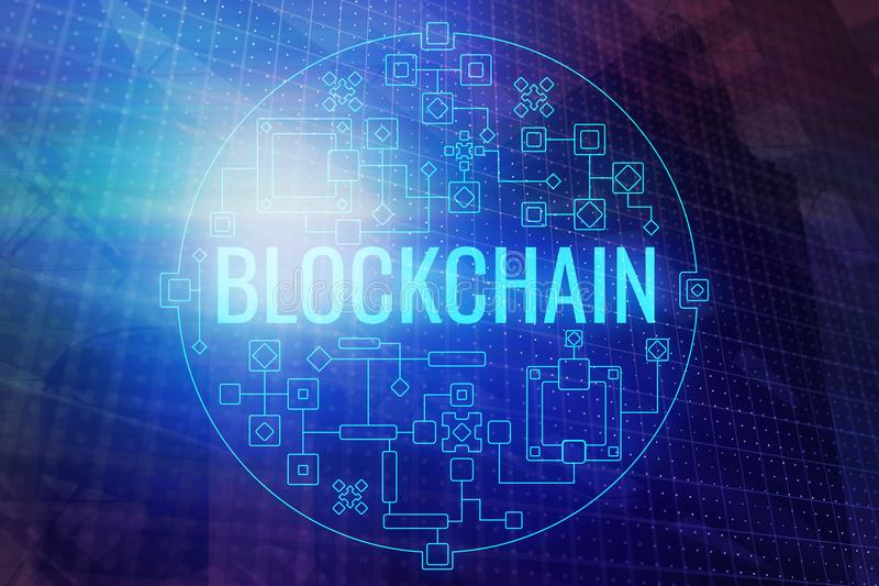 Abstract blockchain background vector illustration