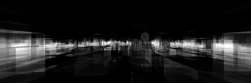 Abstract blocks city stock illustration