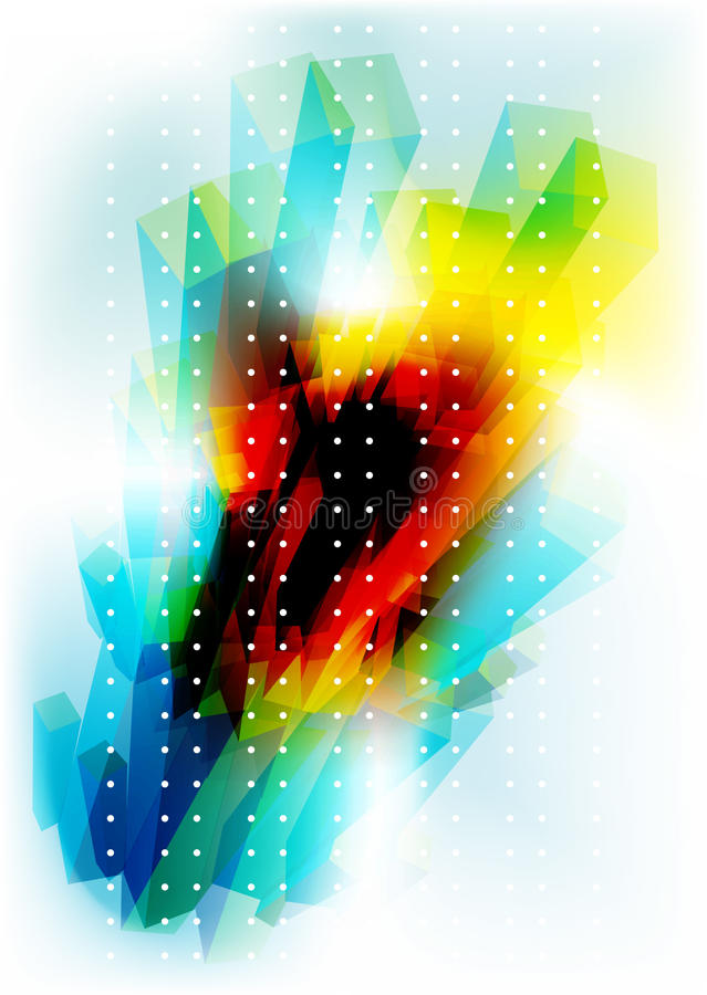 Abstract blocs background royalty free illustration