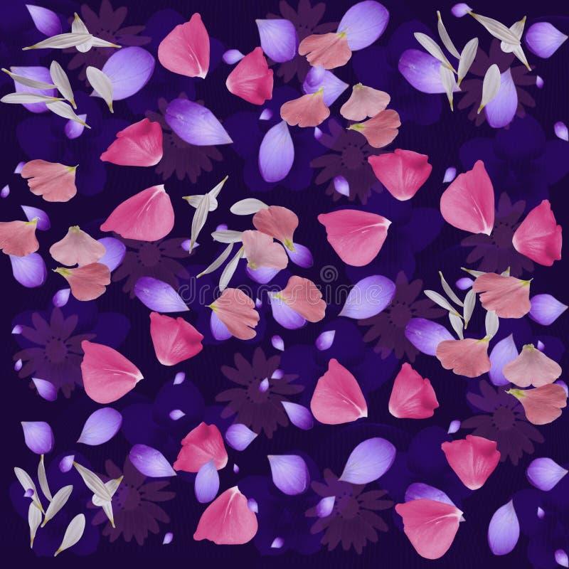 Abstract Bloemblaadje Naadloos Patroon stock illustratie
