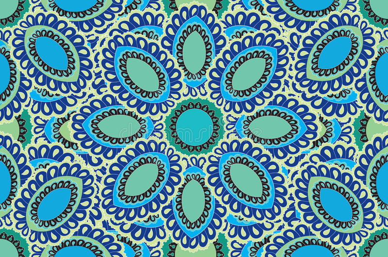 Abstract bloemen geel naadloos patroon vector illustratie afbeelding 27642441 - Grafiek blauw grijze verf ...