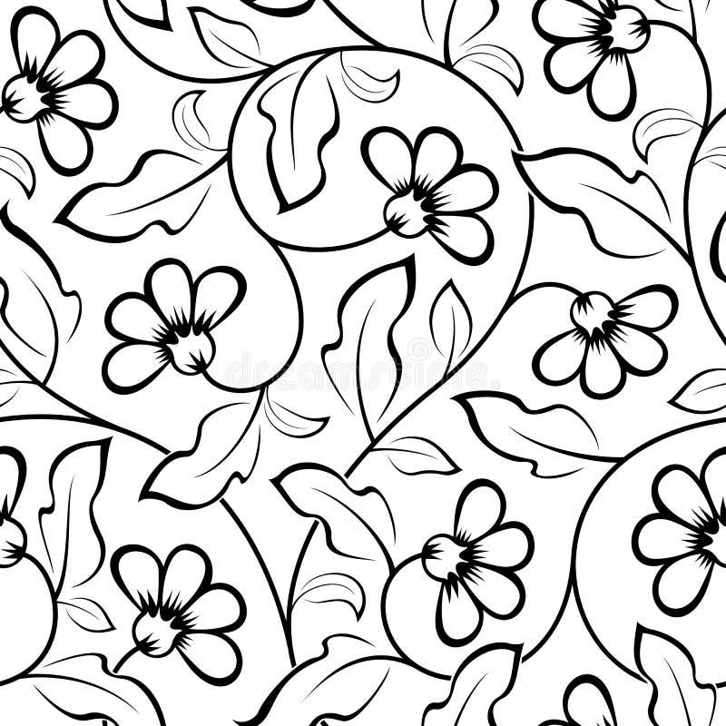 Abstract bloemen naadloos patroon vector illustratie