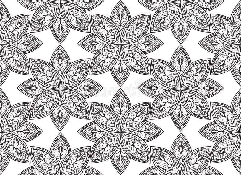 Abstract bloemen naadloos patroon Geometrische ornamenttextuur vector illustratie