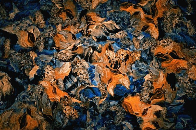Abstract bloemendecoratieelement, uitstekende achtergrond op geweven canvas Ontwerp voor tapijtwerk, behang, stof stock foto