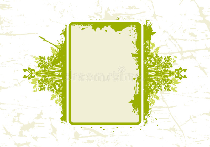 Abstract BloemenFrame Grunge stock illustratie