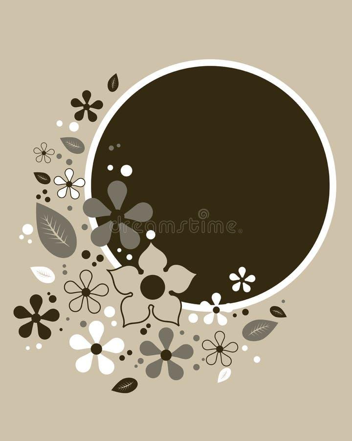 Abstract bloemenframe - vector stock illustratie