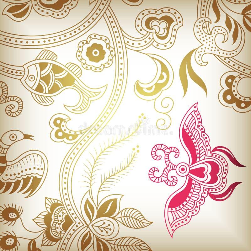 Abstract bloemenG royalty-vrije illustratie