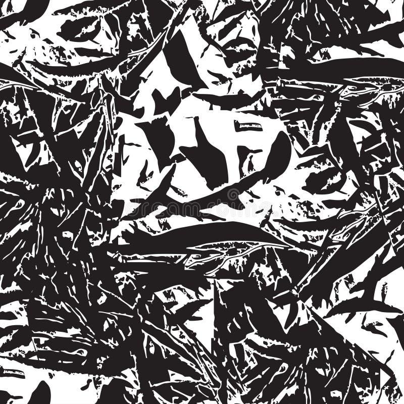 Abstract bloemengrungepatroon De textuur van het bladerengebladerte royalty-vrije illustratie